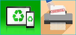 E-Waste and Shredding Icons