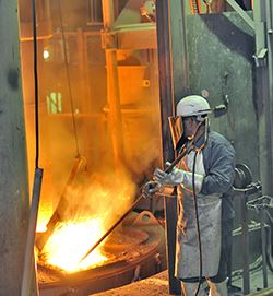 Industrial Furnace with Molten Metal