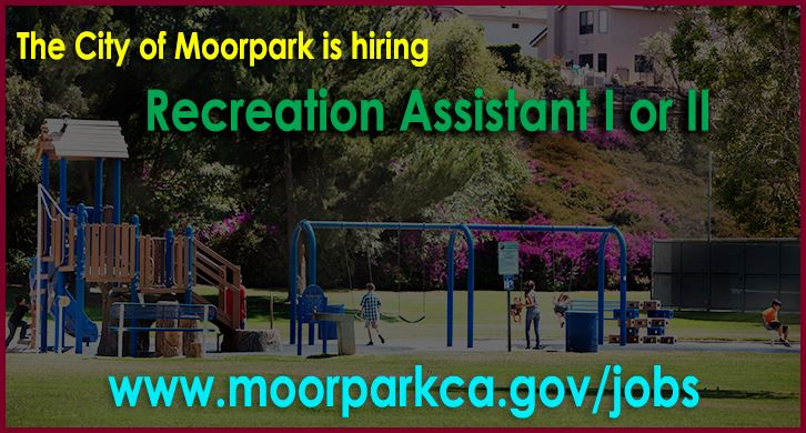 Now Hiring Announcement for Recreation Assistant I or II