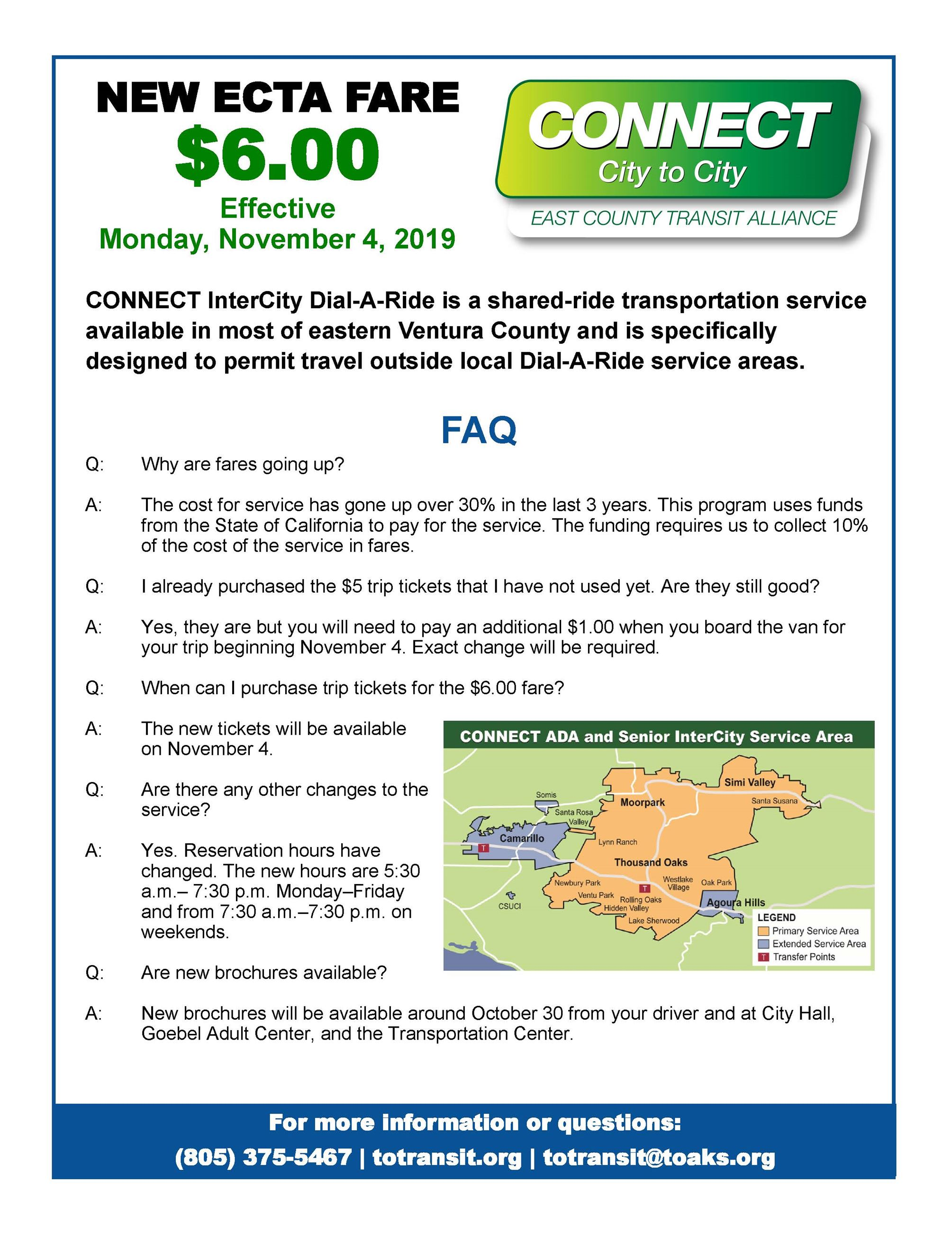ECTA Fare Increase Flyer
