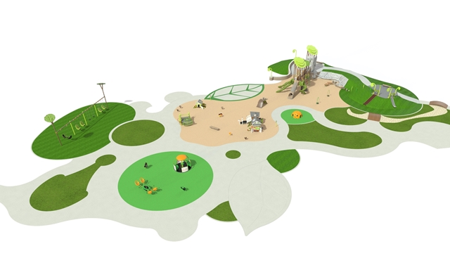 Inclusive Playground Concept Art Playground Overhead