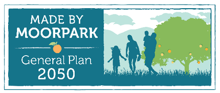 Logo for General Plan Update with Tagline Made by Moorpark Opens in new window