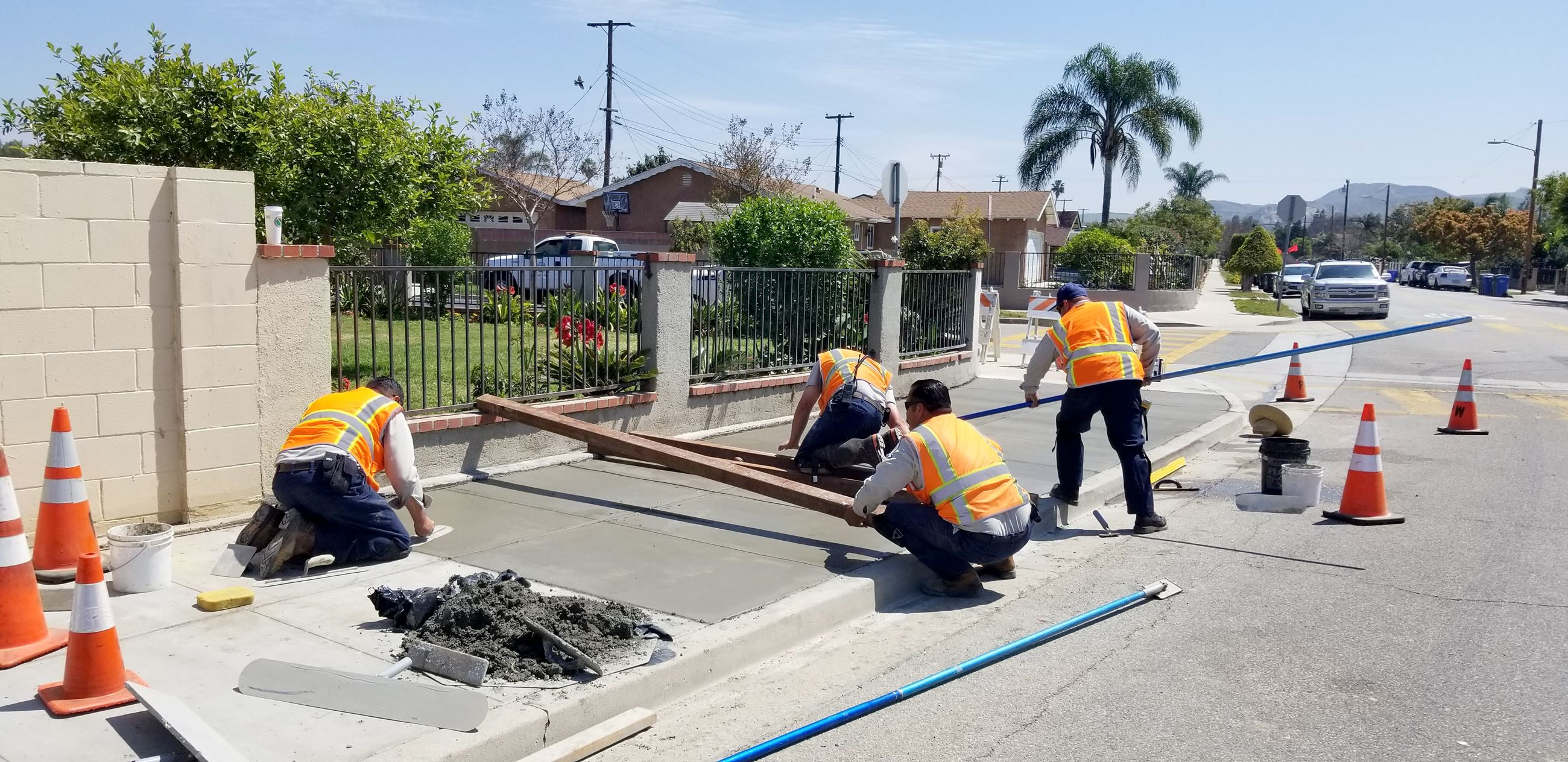 Sidewalk Repair Crew in Downtown Moorpark