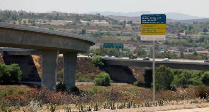 Anti-Suicide Signs on 118 Freeway
