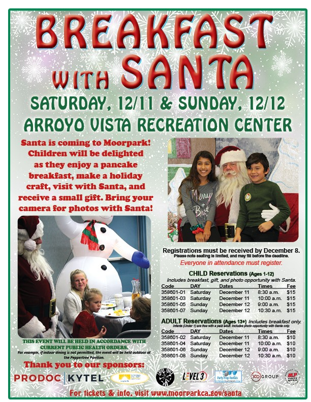 Breakfast with Santa Flyer 2019