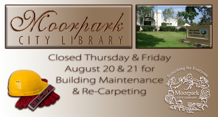 Library Closed Aug 20 and 21