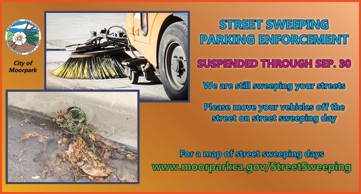 Street Sweeping Parking Non-Enforcement (through Sep 30)