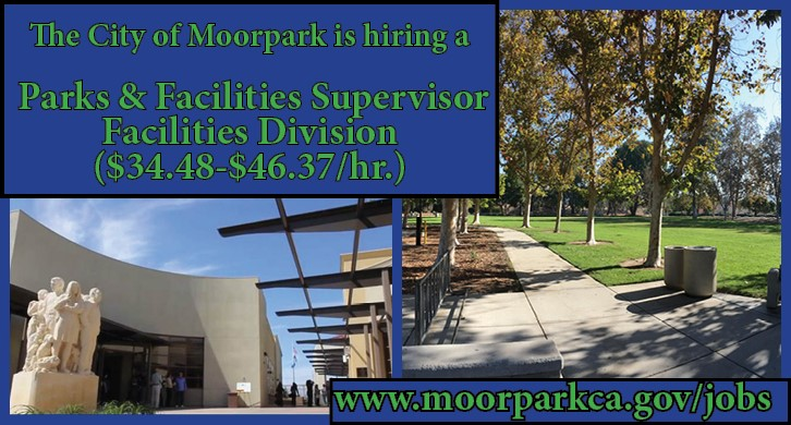 Moorpark is hiring for Parks and Facilities Supervisor - Facilities Divisions