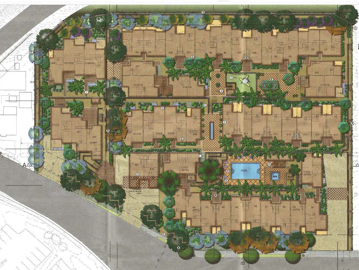 Landscape Plan Site Plan Everett Street Terraces