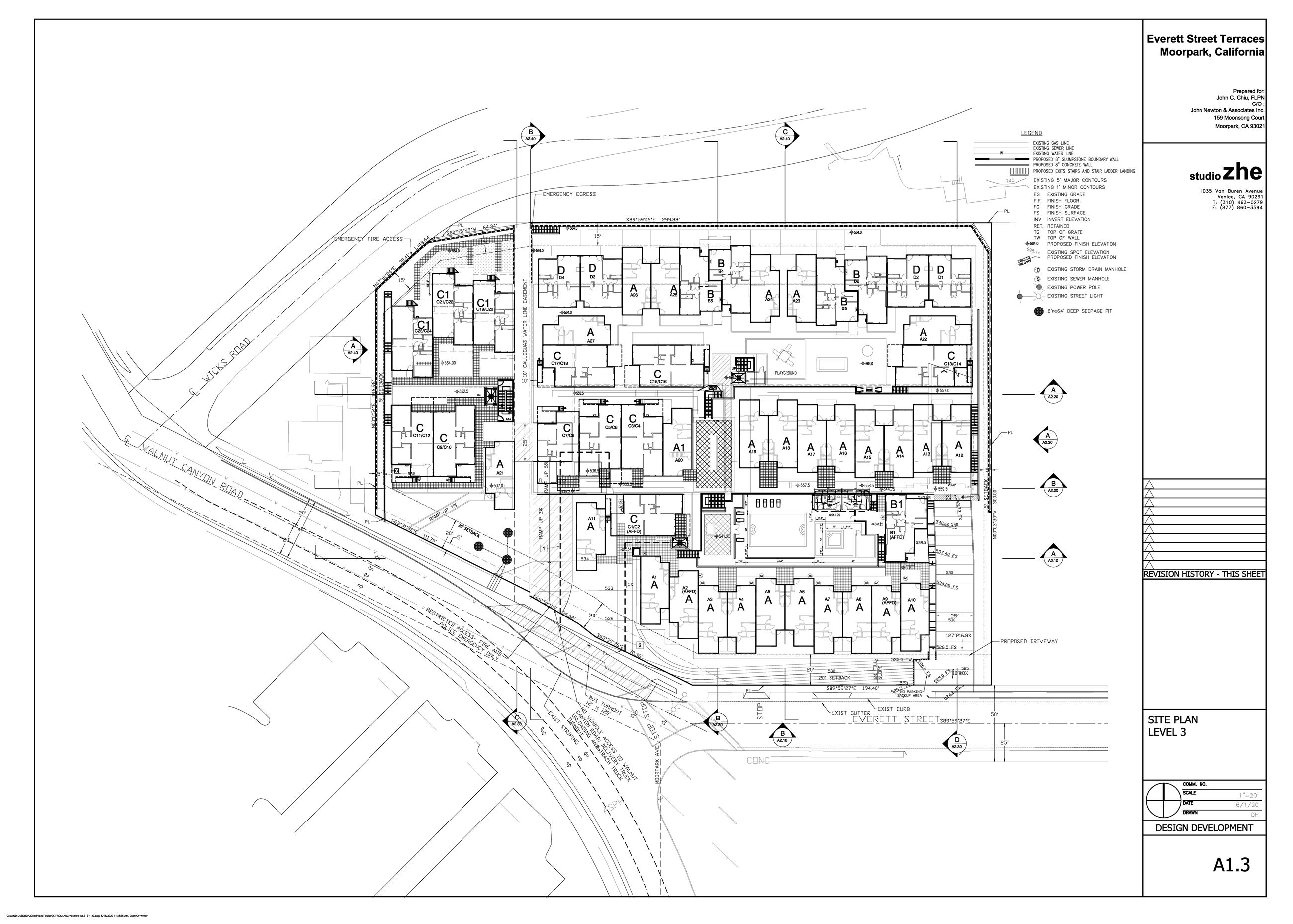Everett Street Terraces Site Plan