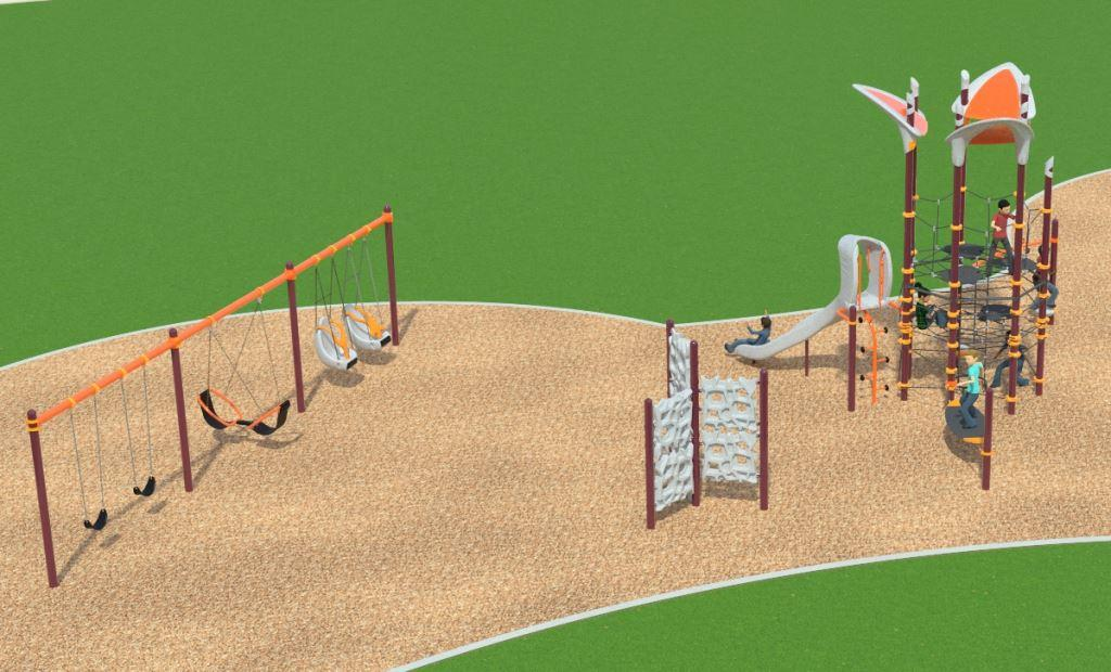 Campus Canyon Large Play Structure Design